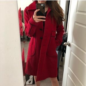 Arden be red wool coat